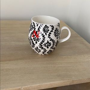 """New Candle in a mug with """"N"""" initial"""